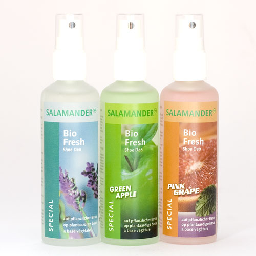 Salamander Bio Fresh in Lavendel, Green Apple und Pink Grape.